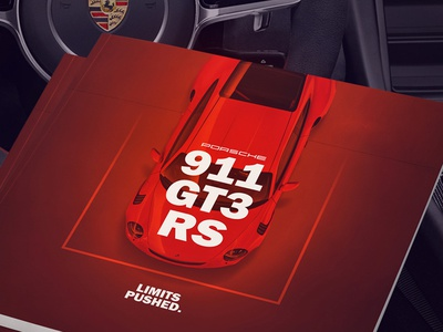 Design doesn't have to be complicated type red simplistic branding editorial print book porsche 911 automotive car brochure