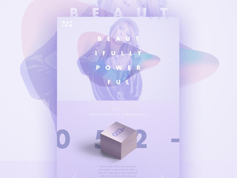 052– Beautifully Powerful ui online web website logo identity branding gradient color colour type brand