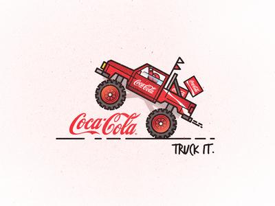 Truck it. // Coca-Cola