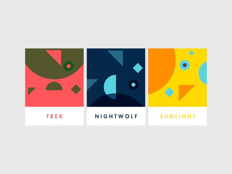 Content Cards colour abstract branding brand identity vibrant color logomark logo