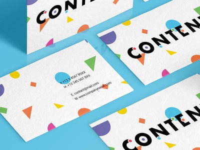 Content Businesscards logo logomark color vibrant identity brand branding abstract colour businesscard