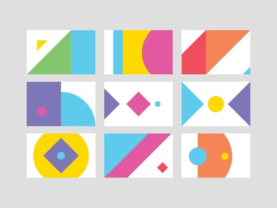 Content Brand Cards businesscard colour abstract branding brand identity vibrant color logomark logo