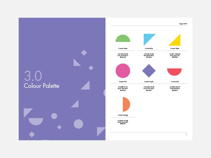Brand Manual // Layout pattern logo logomark color vibrant identity branding abstract colour brand