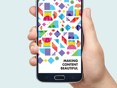 Making Content Beautiful pattern logo logomark color vibrant identity branding abstract colour brand