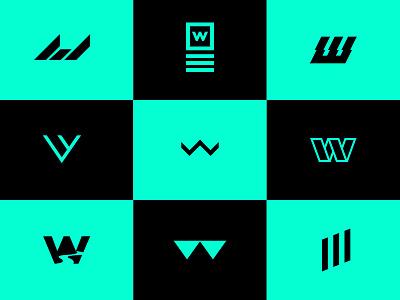 Double U green icons icon branding brand identity client logo