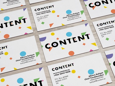 Content Business cards brand colour abstract branding identity vibrant color logomark logo pattern