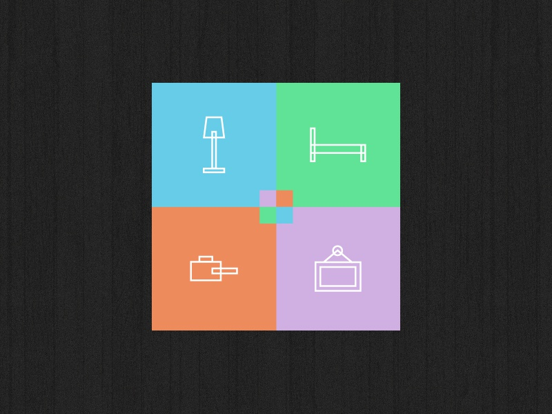 Home Interior Icons icons iconset colour branding icon set