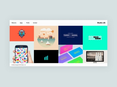 Portfolio [Update 2] wordpress icon bristol mono ux clean type ui web portfolio studio website