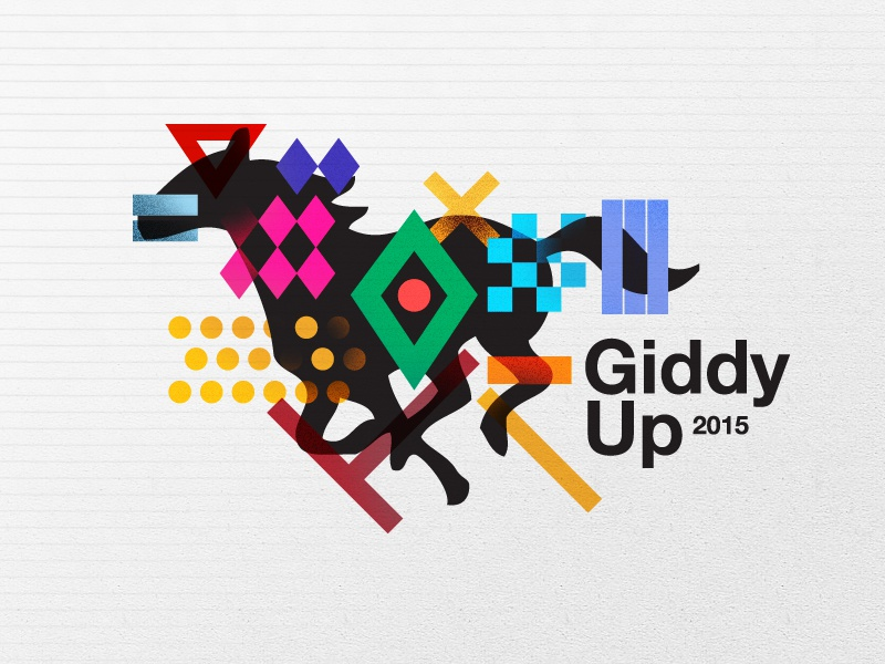 Giddy+Up Visual collection type abstract swiss color horses art posters poster
