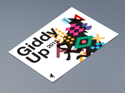 Giddy+Up Compositon [2] collection type abstract swiss color horses art posters poster