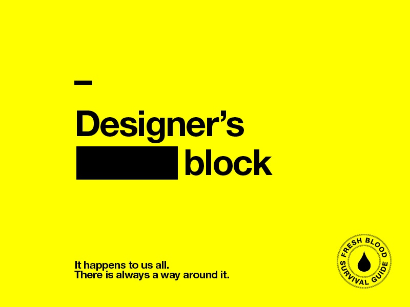 Designer's block studio yellow type designer design students campaign poster