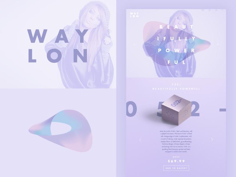 WAYLON – Beautifully Powerful brand type colour color gradient branding identity logo website web online ui