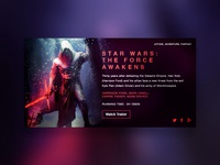 Movie Dashboard // Star Wars: The Force Awakens