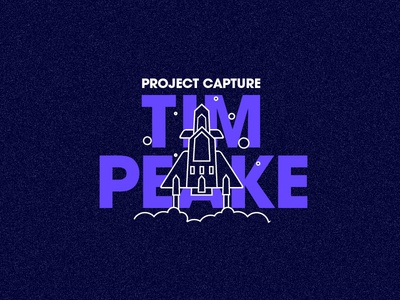 Project Capture space shuttle rocket launch rock explore cosmos space stars illustration icon icon a day