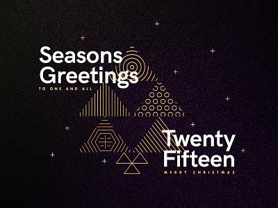 Seasons Greetings - Twenty Fifteen gold type pattern line stroke vector xmas christmas thankyou