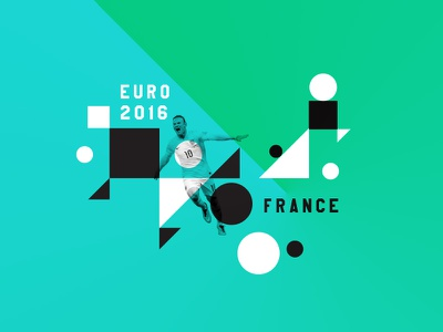 Euro 2016 - France rooney euro football pattern color abstract green france