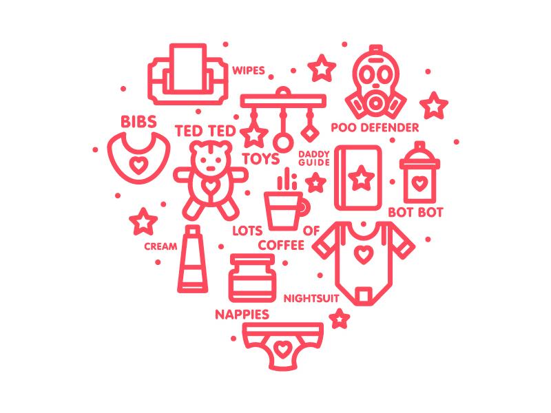 Parenthood parents baby logo logos marks icons 2015 type branding illustration