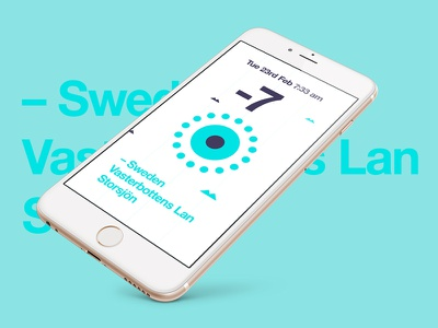Weather Ui weather app ui shapes flat interface appdesign iphone6 swiss
