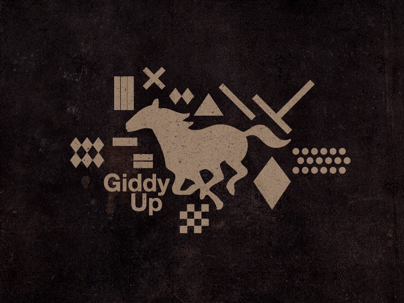 Giddy Up horse sport texture logo logos marks icons 2015 type branding illustration
