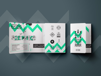 EPIC. Featured! snowboard type branding graphic symbols shapes brand logo badges epic brochure usa