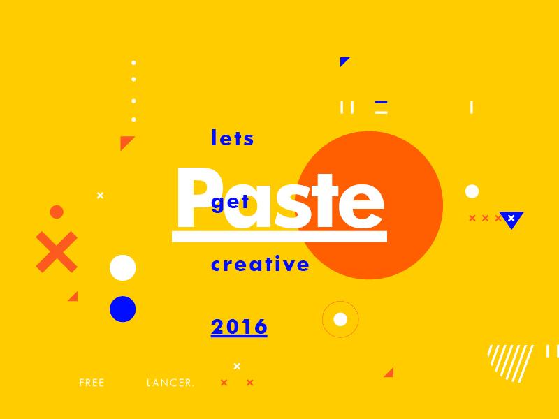Paste freelance design typography creative symbol texture type layout color