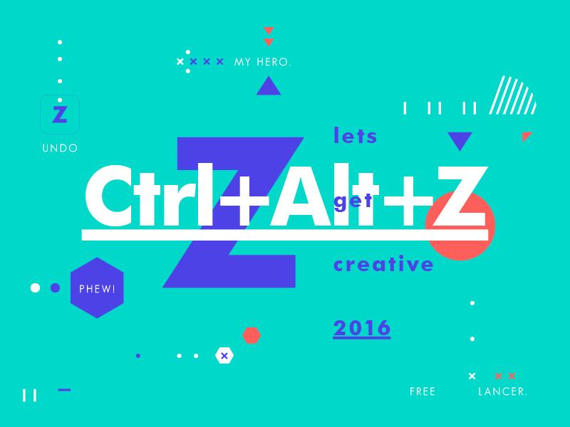 Ctrl+Alt+Z freelance design typography creative symbol texture type layout color
