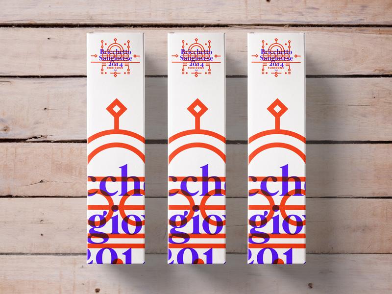 Bricchetto Sangiovese // Wine Box Packaging winebox packaging 2016 illustration layout stroke type label wine