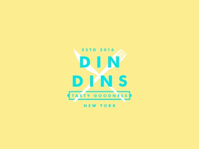 Din Dins typography food logotype logo illustration branding brand type newyork agency