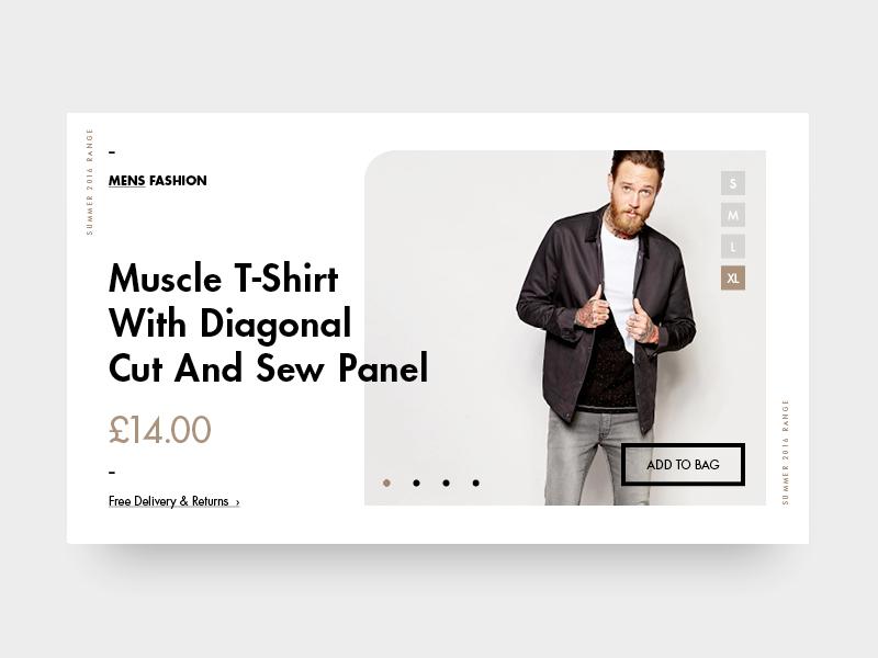 Fashion Ui one page fashion typography menu minimal webdesign ui flat ecommerce