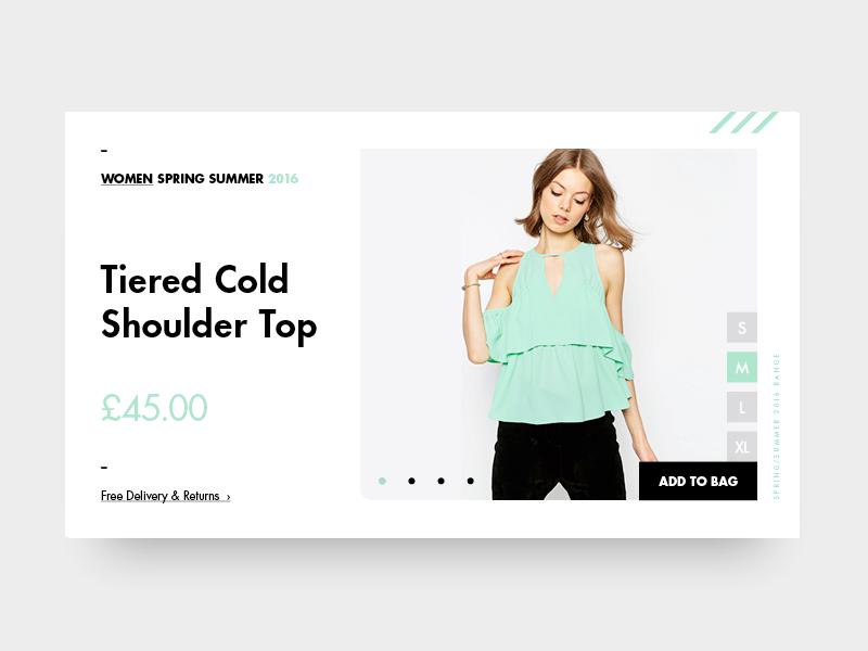 Fashion Ui // Woman ecommerce flat ui webdesign minimal menu typography fashion one page