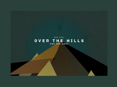 Over the hills and far away vector texture explore earth illustrator illustration
