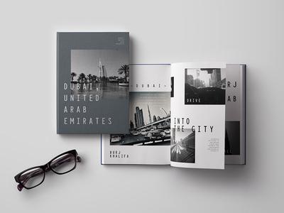 Dubai Book Layout print book travel dubai photography design type branding series city mono layout