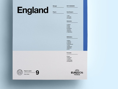 Come on ENGLAND! art layout england soccer print posters poster football euro