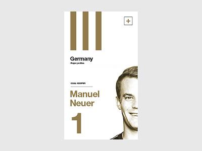 UEFA EURO 2016 // Manuel Neuer neuer iphone grid germany art soccer app layout ui football euro