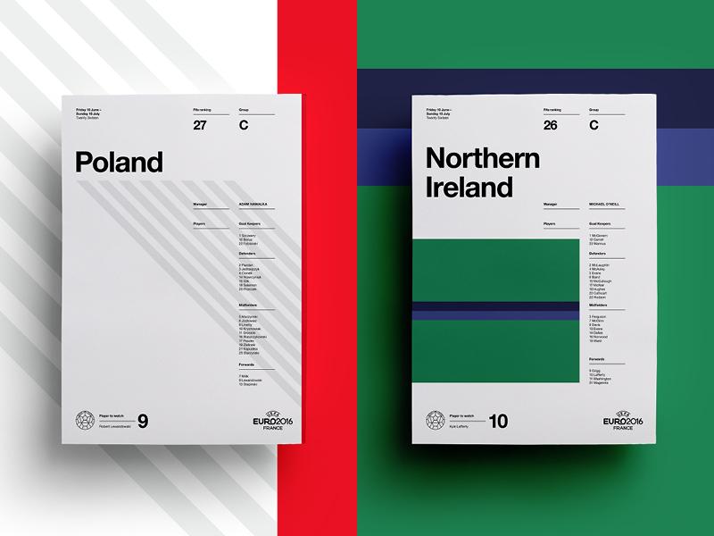 Poland V Northern Ireland euro football poster posters print soccer reland poland layout art