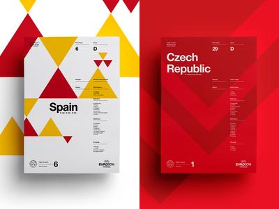Spain V Czech Republic art layout czech spain soccer print posters poster football euro