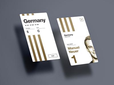 UEFA EURO 2016 // Manuel Neuer euro football ui layout app soccer art germany grid iphone neuer