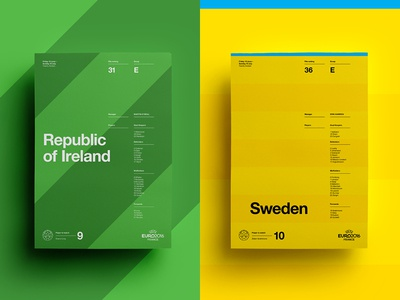 Republic of Ireland V Sweden euro football poster posters print soccer sweden ireland layout art