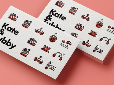 ∆ Fun icons   Tubby Collection ∆ businesscard camera illustration icon stroke fun iconset pattern gaming imac