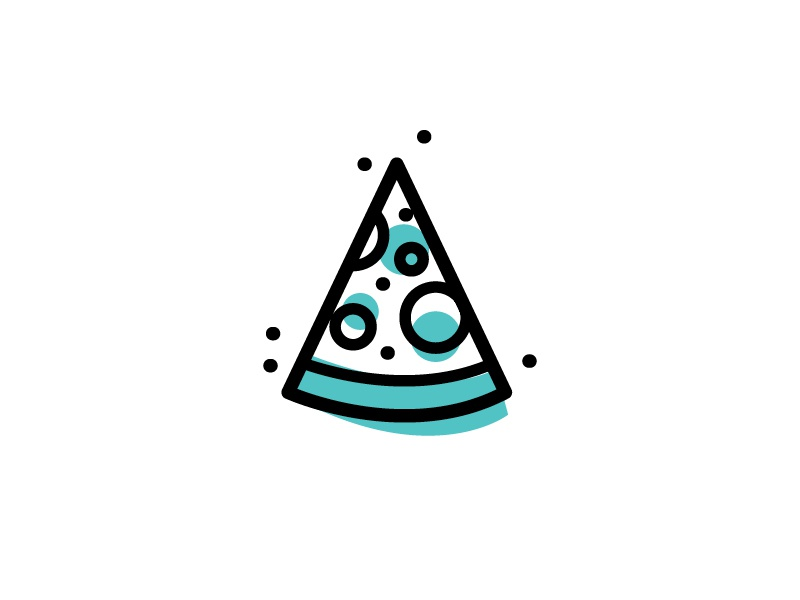 ∆ Fun icons | A slice of creativity ∆ illustration icon stroke fun iconset pattern burger camp coffee