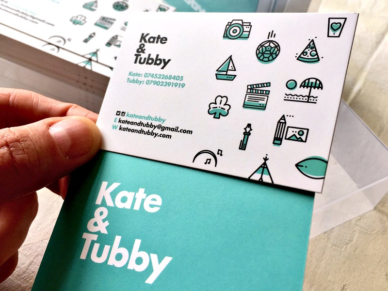 ∆ Kate&Tubby ∆ coffee camp burger pattern iconset fun stroke icon illustration businesscard