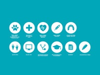2nd submission - Icons for a Veterinary college brochure