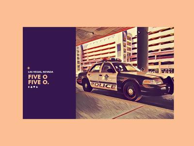 ∆ Five O. Five O ∆ police cops vegas vacation type photography filter color branding las vegas summer