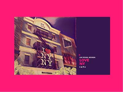 ∆ LOVE NY ∆ summer las vegas branding color filter photography type vacation vegas newyork