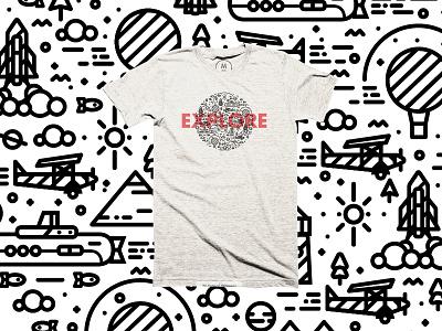 'Nearly' back by popular demand... cottonbureau clothng t-shirt plane logo type balloon illustration line brand branding