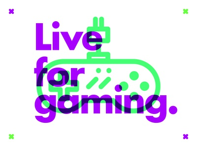 ∆ Live for gaming. ∆ retro freelance multiply games gaming illustrator illustration live type