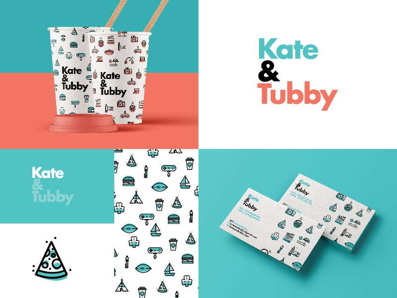 ∆ Kate&Tubby | Project now live ∆ london branding photography burger pattern iconset fun stroke icon illustration
