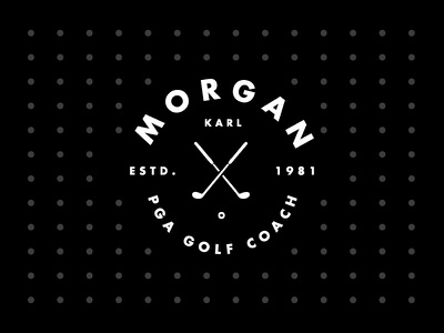 ∆ Morgan Golf ∆ pga golfer mono type logomark golf branding identity logo