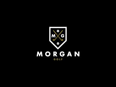 ∆ Morgan Golf ∆ logo identity branding golf logomark type mono golfer pga