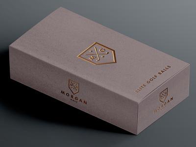 ∆ Morgan Golf Elite Balls ∆ pga golfer packagaing type logomark golf branding identity logo